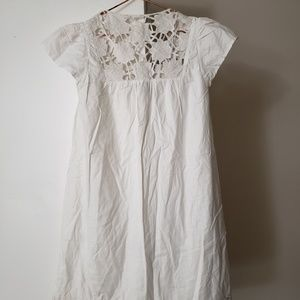 NWT! MNG 4 White Flower Dress
